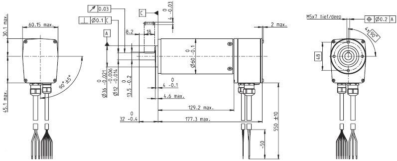 Электронно-коммутируемый бесщеточный двигатель постоянного тока Maxon motor EC60 167131.